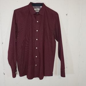 Van Heusen Lg Slim fit maroon dress shirt